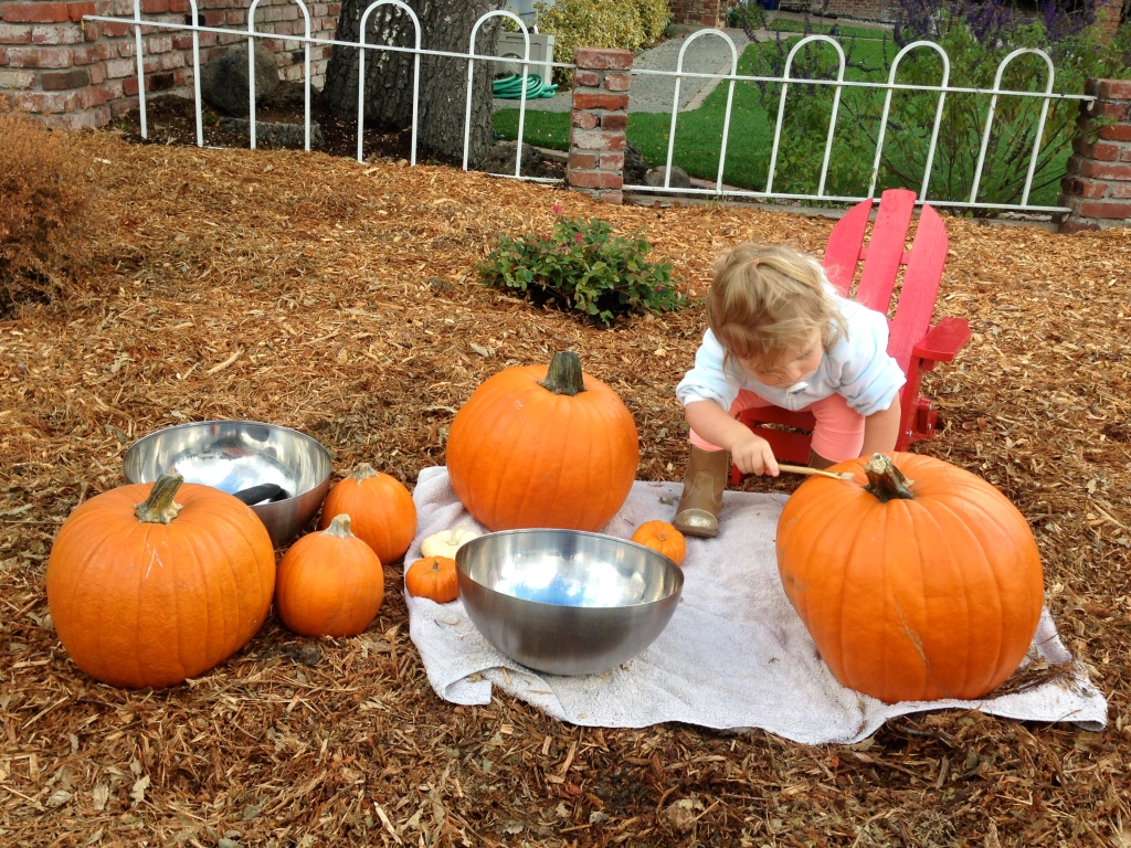Drilled pumpkin prep