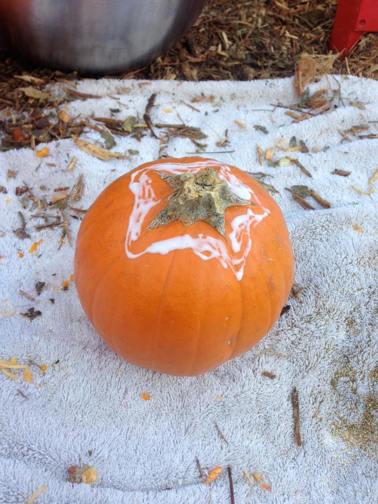 Glitter pumpkins demo