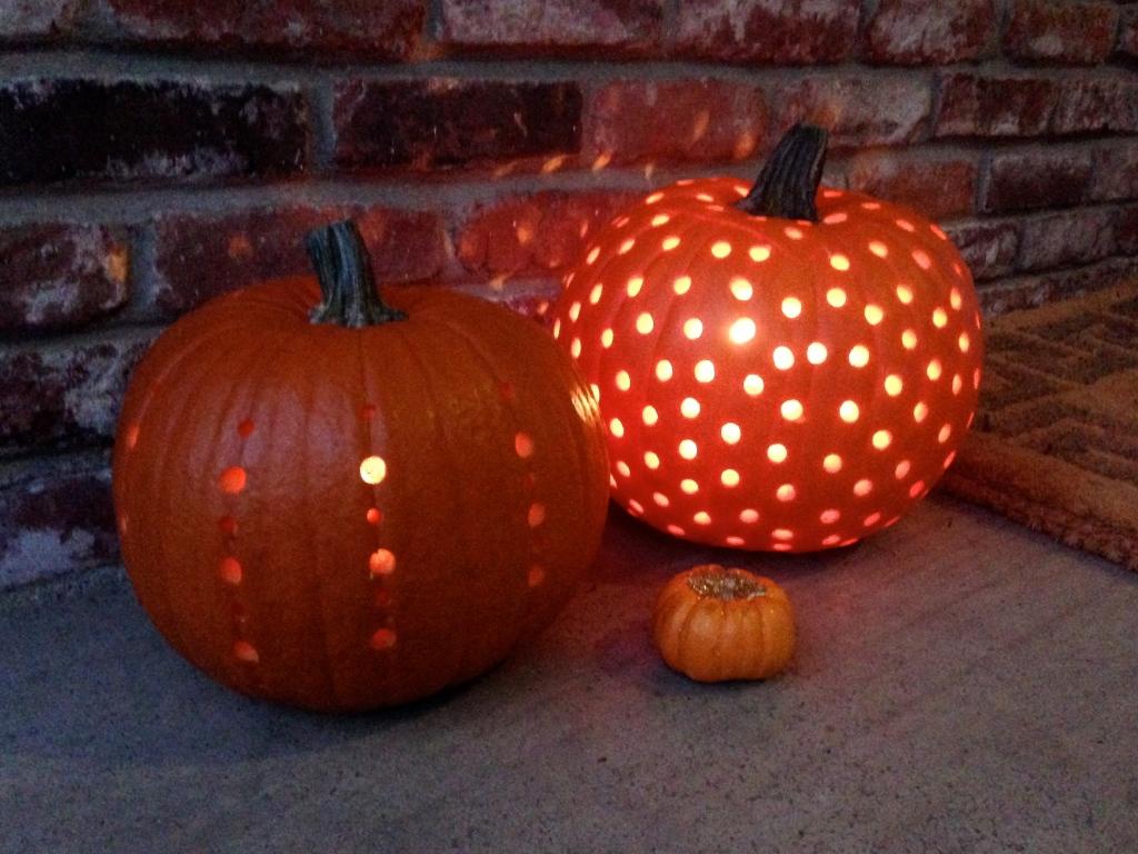 Drilled pumpkin ideas