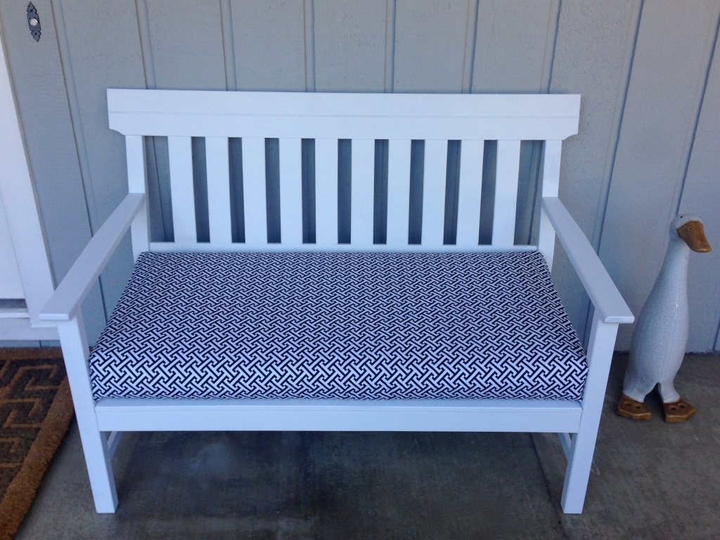 Outdoor bench after