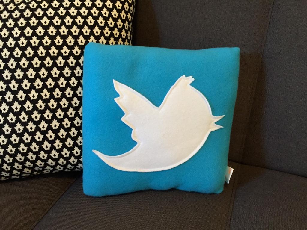 Twitter felt pillow