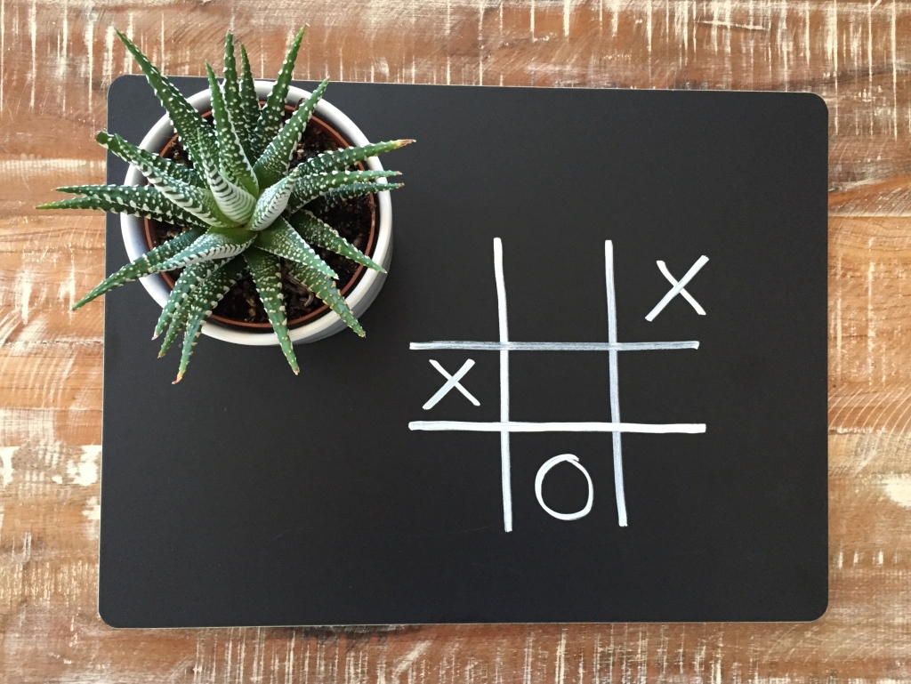 Crate & Barrel Chalkboard Placemat