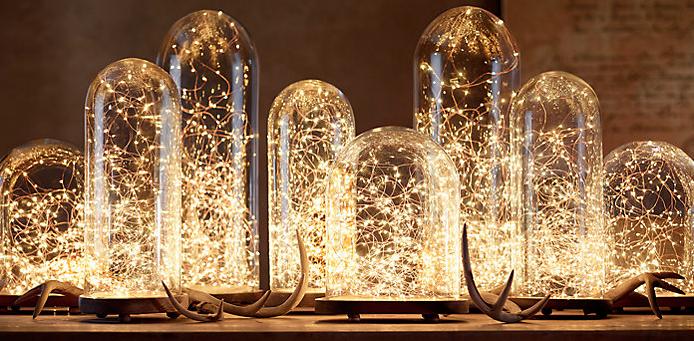 Restoration Hardware Starry String  Lights in jars