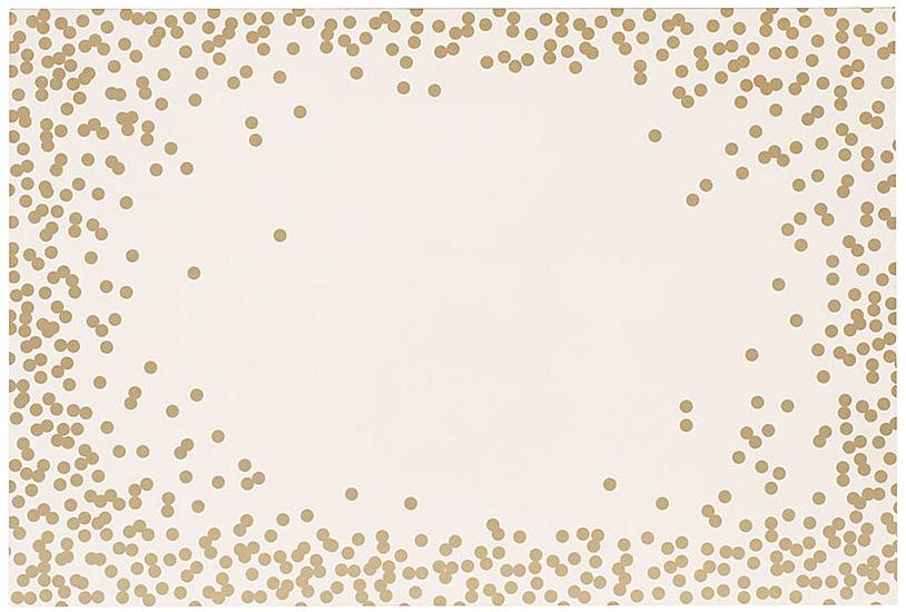 Gold dot placemat
